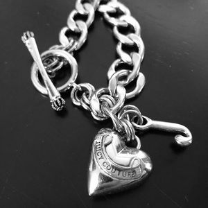 JUICY COUTURE SILVER CHARM BRACELET 🖤